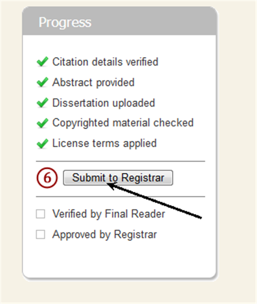 image of submit button on submit page
